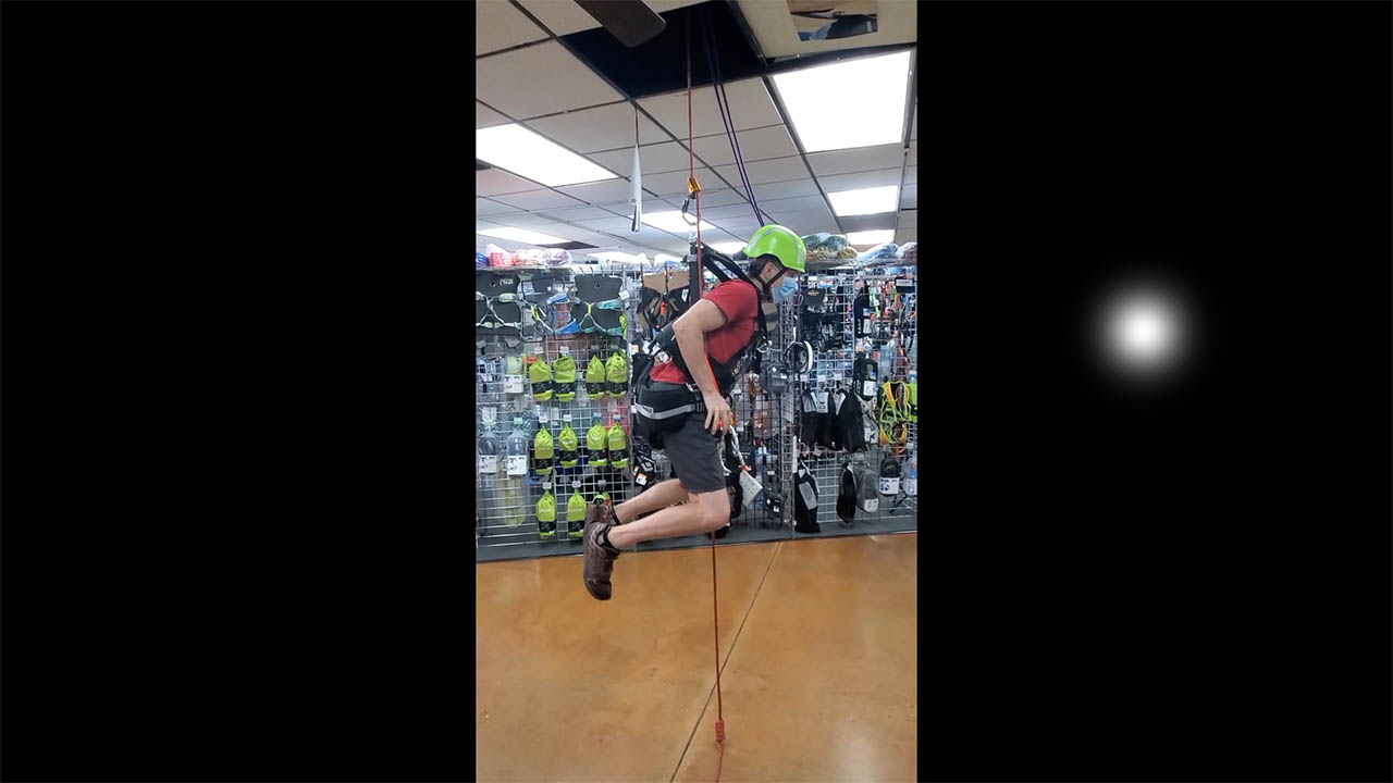 AHS Rescue Demos ClimbTech's FreeTech Tower Harness